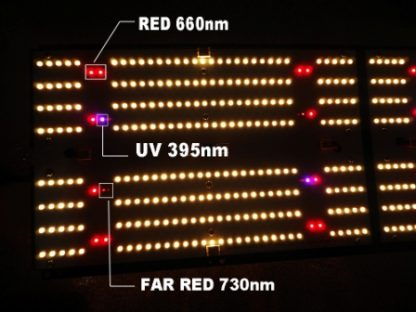 LED Grow Light - Zoom in on LED Chips, Red, UV and IR - HdGrowLights